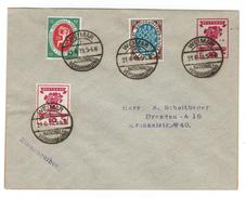 Ganzsachen-Privatumschlag Borek-Katalog Nr. 42 A Mit Zusatzfrankatur MiNr. 107+108+109, SSt. Nationalversammlung WEIMAR - Brieven En Documenten