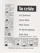 Illustrateur FILIPANDRE - La Criée - Un Journal Pour Dire Tout Haut Ce Que L'on Pense Tout Bas - Illustrateurs & Photographes