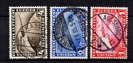Allemagne/Reich Poste Aérienne YT N° 42A/42C Oblitérés. Signés Schlegel. B/TB. A Saisir!