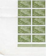 ES1179-A319TEVA.Spain Espagne SUPER-CONSTELLATION Y NAO SANTA MARIA 1955/56.(Ed.1179**)sin Charnela BL 10 - Variedades & Curiosidades