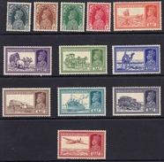 India 1937-40 Part Set To 12 A SG247-258 - MLH/UMM - India (...-1947)