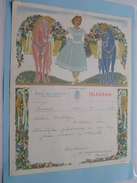 TELEGRAM Voor Urbain Casteleyn MENEN ( Van Worldmusic Brussel ) Anno 1950 / Belgique - Belgium !! - Faire-part