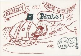 Illustrateur FILIPANDRE - Annecy Salon De La CP - Pirate - 22 Déc. 1986 - N°23/200 - Illustrateurs & Photographes