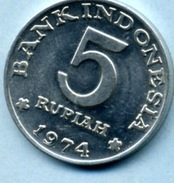 1974 5 ROUPIES - Indonésie