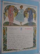 TELEGRAM Voor Het ORKEST Johnny * Walter Feestpaleis MENEN ( V/d Vrouwen V/h Orkest ) Anno 1950 / Belgique - Belgium !! - Announcements
