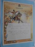 TELEGRAM Voor Het ORKEST Johnny * Walter Feestpaleis MENEN ( Van Schlager Editie Ant ) Anno 1950 / Belgique - Belgium !! - Unclassified