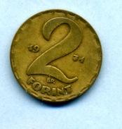 1971  2 FORINTS - Ungheria