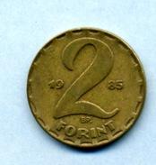 1985  2 FORINTS - Hungary
