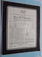 Doodsbrief Elza De VLAEMINCK ( Gebriël De Rycke ) EGEM 12 Mei 1904 - Brugge 17 Juli 1957 ( Gekreukt ) !! - Avvisi Di Necrologio