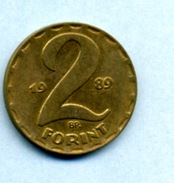 1989  2 FORINTS - Hungary