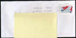 """Enveloppe, Timbre, Lettre Verte """"Charles De Gaulle, Appel Du 18 Juin 1940"""", Oblitération La Poste 22014A-02 (21-02-17) - Marcophilie (Lettres)"""