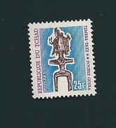 N° 39 Timbre Taxe 25f Poupée Guera 1969 Timbre Neuf - Tchad (1960-...)