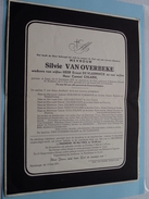 Doodsbrief Silvie Van OVERBEKE ( Ernest De Vlaeminck & Camiel Chlarie ) EGEM 26 Sept 1878 - Beernem 13 Mei 1953 !! - Avvisi Di Necrologio