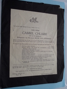 Doodsbrief Camiel CHLARIE ( Silvie Van Overbeke ) RUDDERVOORDE 26 April 1875 - Brugge 7 Juli 1943 !! - Avvisi Di Necrologio