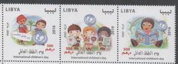 LIBYA, 2016,  INTENRATIONAL CHILDREN'S DAY, UNICEF,3v - Other