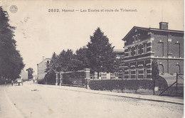 Hannut - Les Ecoles Et Route De Tirlemont (1911) - Hannut