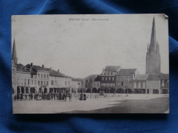 Marciac  Place Centrale - Pharmacie - Animée - Circulée 1906 - R139 - Sonstige Gemeinden
