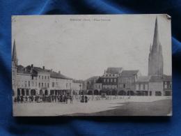 Marciac  Place Centrale - Pharmacie - Animée - Circulée 1906 - R139 - Altri Comuni