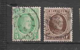 COB 209 / 210 Oblitérés - 1922-1927 Houyoux