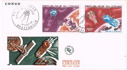 23598. Carta BRAZZAVILLE (Congo) 1967. Espace, Espacio. Spoutnik, Vostok, Geminis - Africa