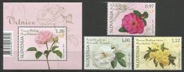 SI 2017-05 FLOWERS, SLOVENIA, 1 X 3v + S/S, MNH - Slowenien