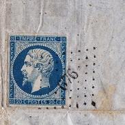 Lettre 1859 THOUMIN Vin Eau De Vie Rhum Anisette La Bastide De Bordeaux Gironde Cénon La Bastide - 1849-1876: Classic Period