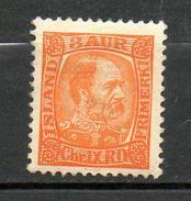 ISLANDE  1902 (**)  Y&T N° 34   - P12.5 - Neufs