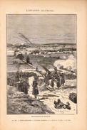 1888 - Gravure Sur Bois - Sélestat (Bas-Rhin) - Scène De La Guerre De 1870 - FRANCO DE PORT - Stiche & Gravuren