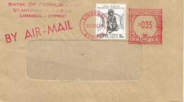 "Cyprus 1978 Limassol Meter Franking Pitney Bowes-GB ""Automax"" U10 Bank Of Cyprus EMA Cover - Cyprus (Republiek)"