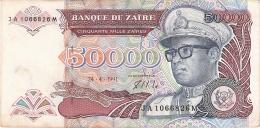 ZAIRE   50,000 Zaires   24/04/1991   Sign.7   G&D   P. 40a - Zaïre