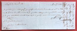 CAMBIALE NAPOLI 1817  SECONDA DI CAMBIO  GAETANO CECERE - ANGELO MARIA GNECCO - Wissels