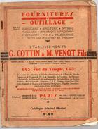 (Paris) Catalogue COTTIN ET VENOT Outillage De Précision N°60 (CAT 189) - Francia