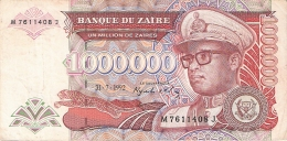 ZAIRE   1,000,000 Zaires   31/07/1992   Sign.8   G&D  P. 44a - Zaïre