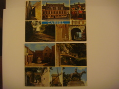 FRANCE - Nord - Lot De 2 Cartes De CASSEL ( Porte D'Aire / Pont / Moulin / Porte Château / Statue Foch / Géants Reuze /. - Cassel