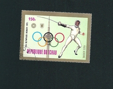 N° 140 PA140 JO Munich - Escrime     Timbre Tchad (1972) Oblitéré - Chad (1960-...)