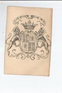 EX LIBRIS DEVISE  MOI FRANC ET SANS DOL (LIONS BLASON COURONNE) - Ex-libris