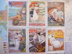 6 Cartes Affiches Publicitaires Des Chemins De Fer /P.HERPIN/F.LUNE/L.METIVET/G.MEUNIER/DELPECH/E.BRUN - Illustrateurs & Photographes