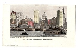 ETATS-UNIS . NEW YORK HIGH BUILDINGS AND RIVER FRONT - Réf. N°341 - - NY - New York
