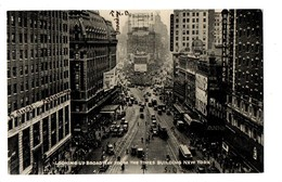 ETATS-UNIS . NEW YORK . LOOKING UP BROADWAY FROM THE TIMES BUILDING - Réf. N°343 - - NY - New York