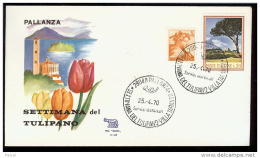 1970 ITALIA (68) - SETTIMANA DEL TULIPANO - PALLANZA - FDC ROMA - 1946-.. République