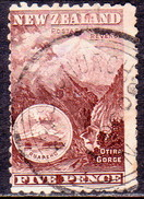NEW ZEALAND 1898 SG 253a 5d Used No Wmk Purple-brown CV £22 - 1855-1907 Crown Colony
