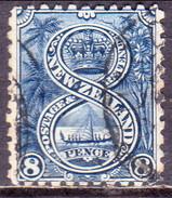 NEW ZEALAND 1898 SG 255 8d Used No Wmk Indigo £50 - 1855-1907 Crown Colony