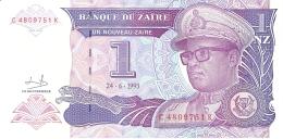 ZAIRE   1 Nouveau Zaire   24/06/1993   Sign.9   G&D   P. 52a   UNC - Zaire
