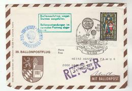1968 Mauerkirchen  AUSTRIA Special BALLOON FLIGHT COVER Stamps Pro Juventute   Ballooning Returned - Transport
