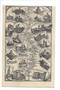 16424 - Gruss Von Der Mosel Moselle Map Coblenz To Trier - Allemagne