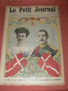 "LE PETIT JOURNAL ILLUSTRE/  17 MAI  1914/ NUMERO 1225  / THEME "" DANEMARK MARIAGE DU ROI "" Et "" MAROC GOURAUD"" - Kranten"