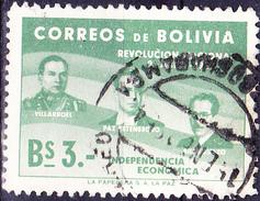 Bolivien - Gualberto Villaroél, Paz Estenssoro Und Hernan Siles Zuazo (MiNr:526) 1953 - Gest Used Obl - Bolivia