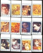 MINT N H SET OF STAMPS  BHUTAN 980-91  ART ; PAINTINGS ; PETER PAUL RUBENS - Rubens
