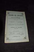 Cour De Dessin écoles Primaires Belges 18pages Après 1900 - Vieux Papiers