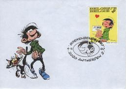 BELGIQUE 2484 FDC 1er Jour GASTON LAGAFFE André FRANQUIN Comics Cartoon Bande Dessinée Journal SPIROU 13 - Comics